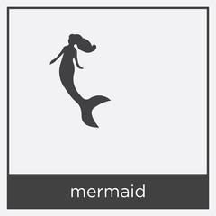 mermaid icon isolated on white background