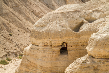Qumran Scroll caves near Dead Sea, Israel