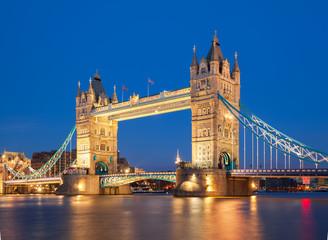 Tower bridge at night. London, UK