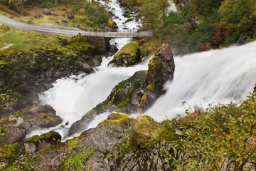 Kleivafossen Waterfall from Above