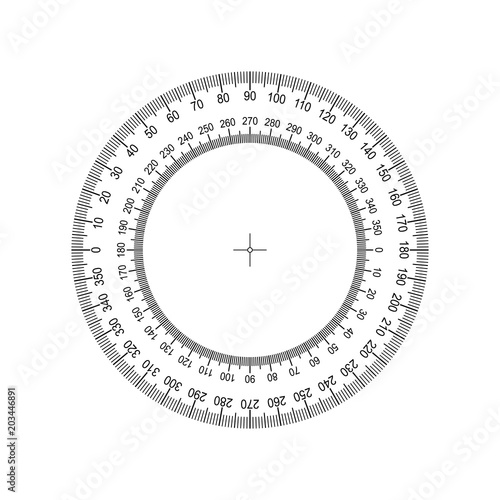 Circular Protractor  Protractor grid for measuring degrees