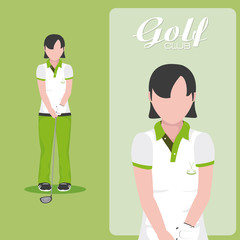 Golf club concept cartoon