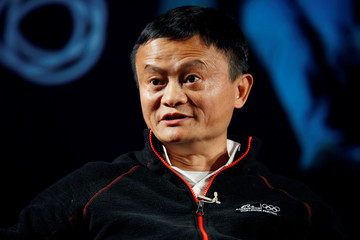 Jack Ma, founder of Chinese e-commerce giant Alibaba, speaks with students during an event at the Tel Aviv University