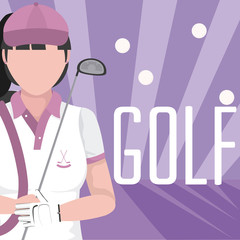 Golf female player avatar