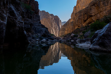Printed roller blinds Deep brown Canyon Reflections in Big Bend