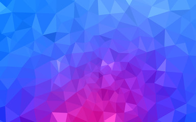 Light Pink, Blue vector polygonal background.