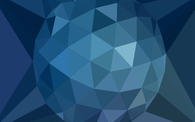 Light BLUE vector abstract mosaic background with a diamond.