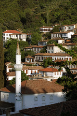 traditional Turkish village homes in Sirince, Selcuk, Izmir
