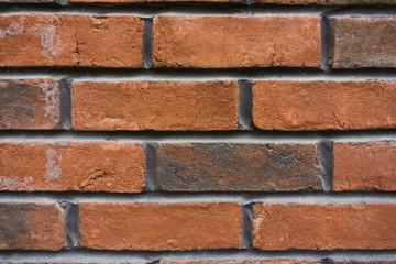 Closeup brown brick wall