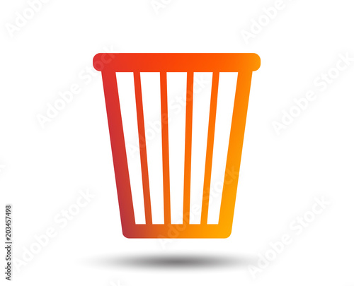Recycle Bin Sign Icon Bin Symbol Blurred Gradient Design Element