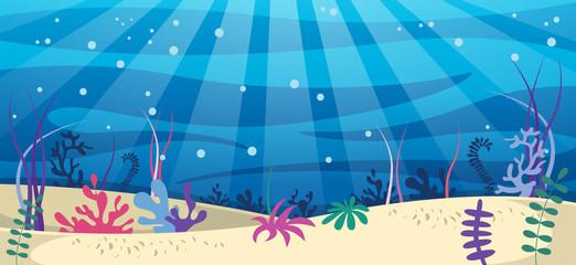 Vector Illustration Of Underwater World
