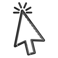 arrow click web internet cursor icon vector illustration