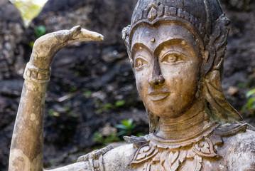 Statue im Secret Buddha Garden auf Samui, Thailand