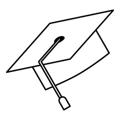 graduation hat accessory traditional image vector illustration