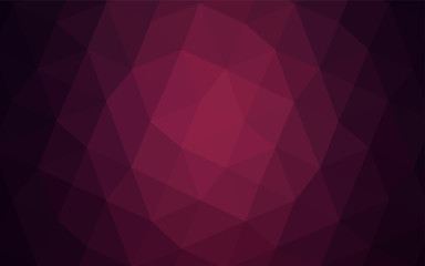 Dark Purple vector abstract polygonal template.