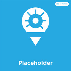 Placeholder icon isolated on blue background