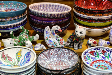 Turkish Ceramics in Grand Bazaar, Istanbul, Turkey