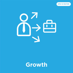 Growth icon isolated on blue background