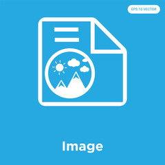 Image icon isolated on blue background