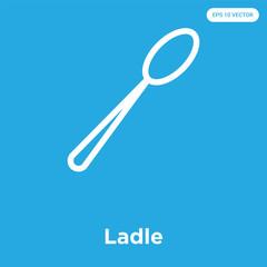 Ladle icon isolated on blue background