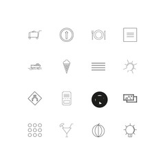 Travel And Tourism linear thin icons set. Outlined simple vector icons