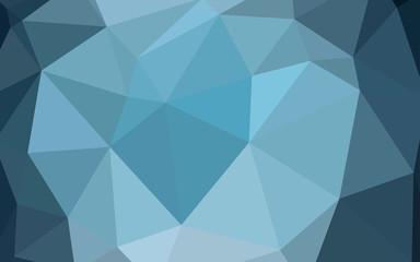 Dark BLUE vector abstract polygonal template.