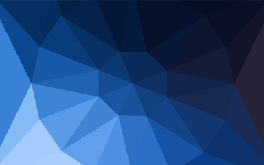 Dark BLUE vector shining triangular cover with a gem in a centre.