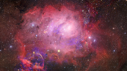 Nebula and stars in deep space, mysterious universe. Elements of this image furnished by NASA