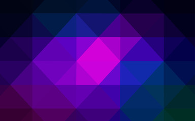 Dark Pink, Blue vector template with gradient triangles.