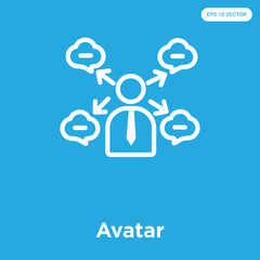 Avatar icon isolated on blue background