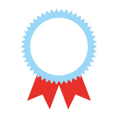 rosette award medal success image vector illustration