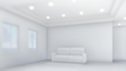 3d Illustration Living Room Decoration