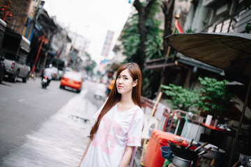 Beauty Girl In China Town