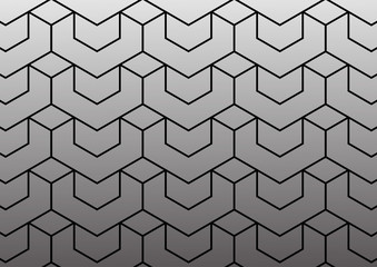 Abstract geometric pattern with lines vector background.