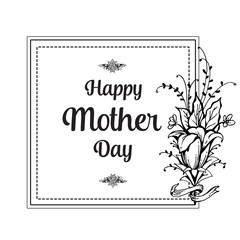 Mother day lettering flower background
