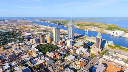 Downtown Mobile, Alabama cityscape