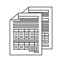 finance document paper icon vector illustration design