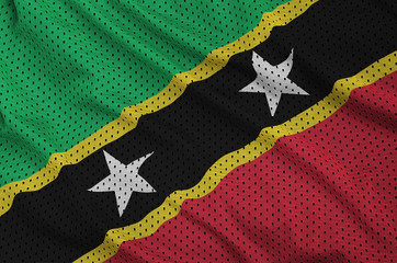 Saint Kitts and Nevis flag printed on a polyester nylon sportswe