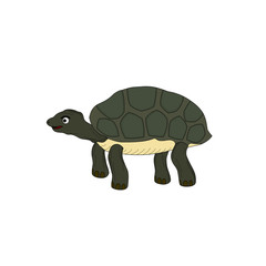 Isolated green turtle animal is stand ,illustration cartoon
