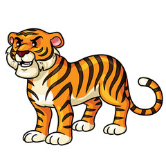 Tiger Cartoon Cute Illustration of cute cartoon tiger.
