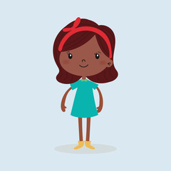 Kid girl character