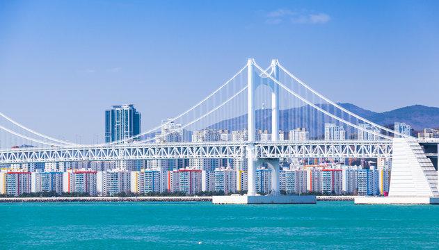 Diamond Bridge, suspension bridge in Busan