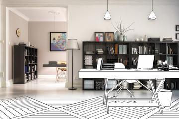 Neugestaltung im Büro (Konzeption)