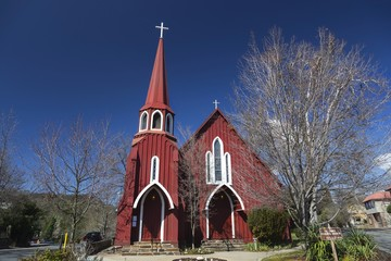 St. James Episcopal Church in Town of Sonora at Foothills of Yosemite National Park, declared as historical landmark of California State, USA