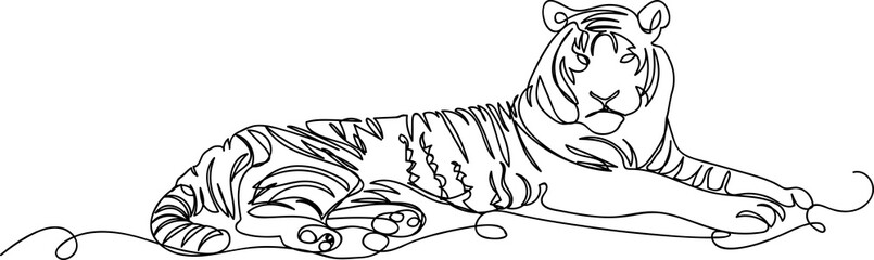 tiger. one line