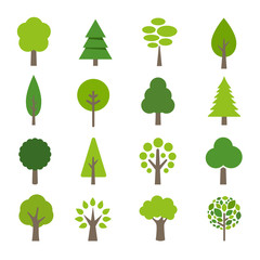 Collection of Trees Icons