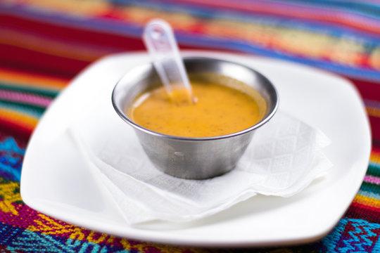 Peruvian traditional cream: aji