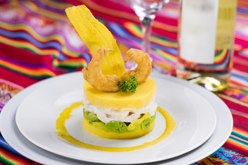 Peruvian food: Causa