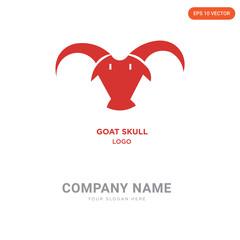 goat skull company logo design