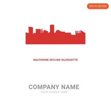 baltimore skyline company logo design